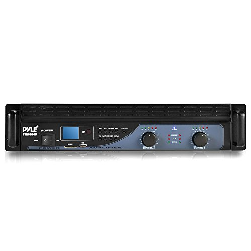 PYLE PTA1004U 1000W 2-Channel Amplifier with USB/SD Readers and Built-In Crossover (Crossover For Mixer Amplifier compare prices)