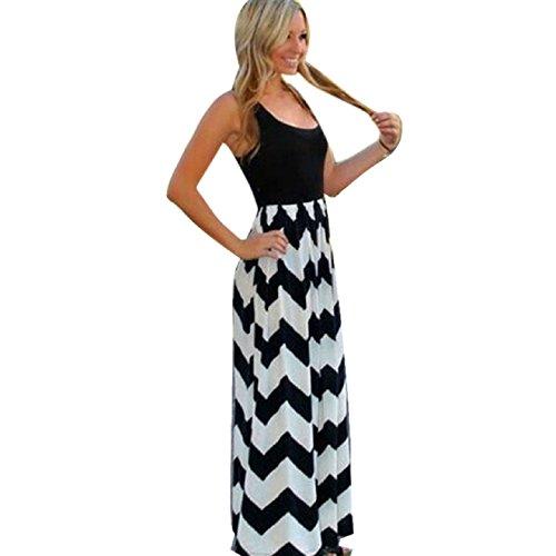 Aokdis Sexy Women Summer Boho Long Maxi Cocktail Party Beach Chiffon Dress