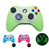 GREEN GLOW in DARK Xbox 360 Game Controller Silicone Case Skin Protector Cover (Many Colors Available) Free shipping