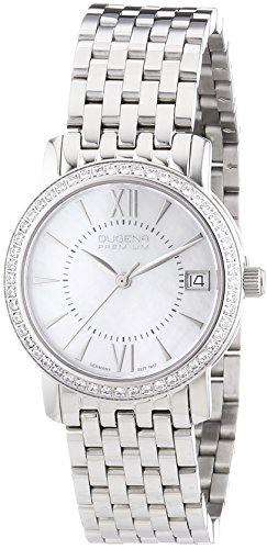 Dugena Premium  - Reloj de cuarzo para mujer, con correa de acero inoxidable, color plateado