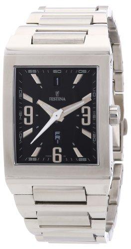 Festina F16188/4 - Reloj analógico de cuarzo para mujer con correa de acero inoxidable, color plateado