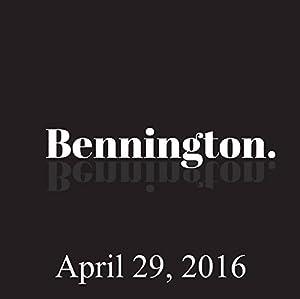 Bennington, April 29, 2016 Radio/TV Program