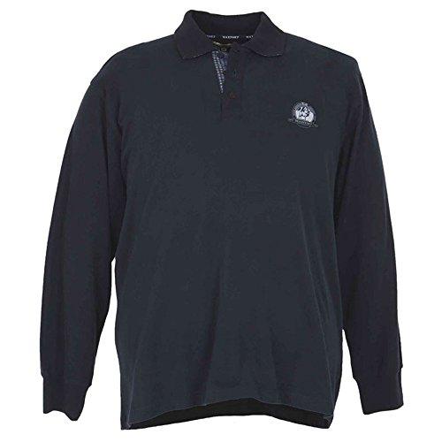 Maglia a polo taglie forti uomo Maxfort 24102 jersey manica lunga - Marrone, 3XL
