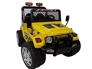 Kt Kid Battery Power Ride on Raptor Wrangler Remote Control Wheels (Kts618 Yellow)