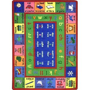 Educational Spanish LenguaLink Kids Rug Rug Size: 5'4