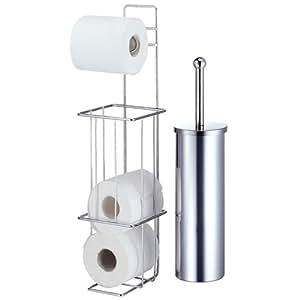 valencia chrome toilet brush loo roll dispenser. Black Bedroom Furniture Sets. Home Design Ideas