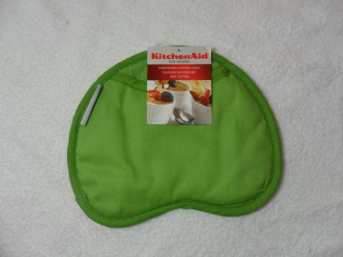 Kitchenaid Green Apple Cotton Pot Holder With Silicone Print Grips