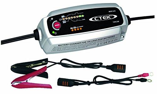 CTEK MXS5.0 T 56-305 - Cargador con pinzas para coche 12V, 5A  (Con compensación automática de temperatura)