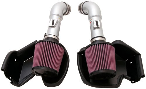 K&N Performance Air Intake Kit 69-7078TS with Metal Tube and Lifetime Red Oiled Filter for Infiniti G37, Nissan 370Z 3.7L V6
