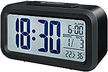 Comprar Bresser MyTime - Reloj despertador con pantalla LCD, color negro (importado)