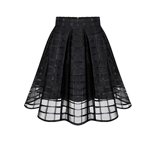 XILALU-Women-Organza-Skirts-High-Waist-Zipper-Ladies-Tulle-Skirt