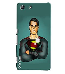Omnam Super Man In Green With Body Printed Designer Back Cover Case For Sony Xperia M5