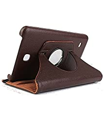 Best Deals - Samsung Galaxy Tab4 8 inch T330/T331 Rotatable Flip Stand Cover Case +Stylus Pen - Brown