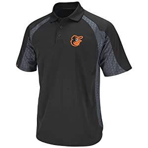 Baltimore Orioles Majestic Season Pass Performance Polo Shirt - Black by Majestic