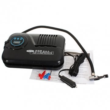 Obsidian 12V Digital Air Compressor Car Truck Tire Inflator Tube 250 PSI