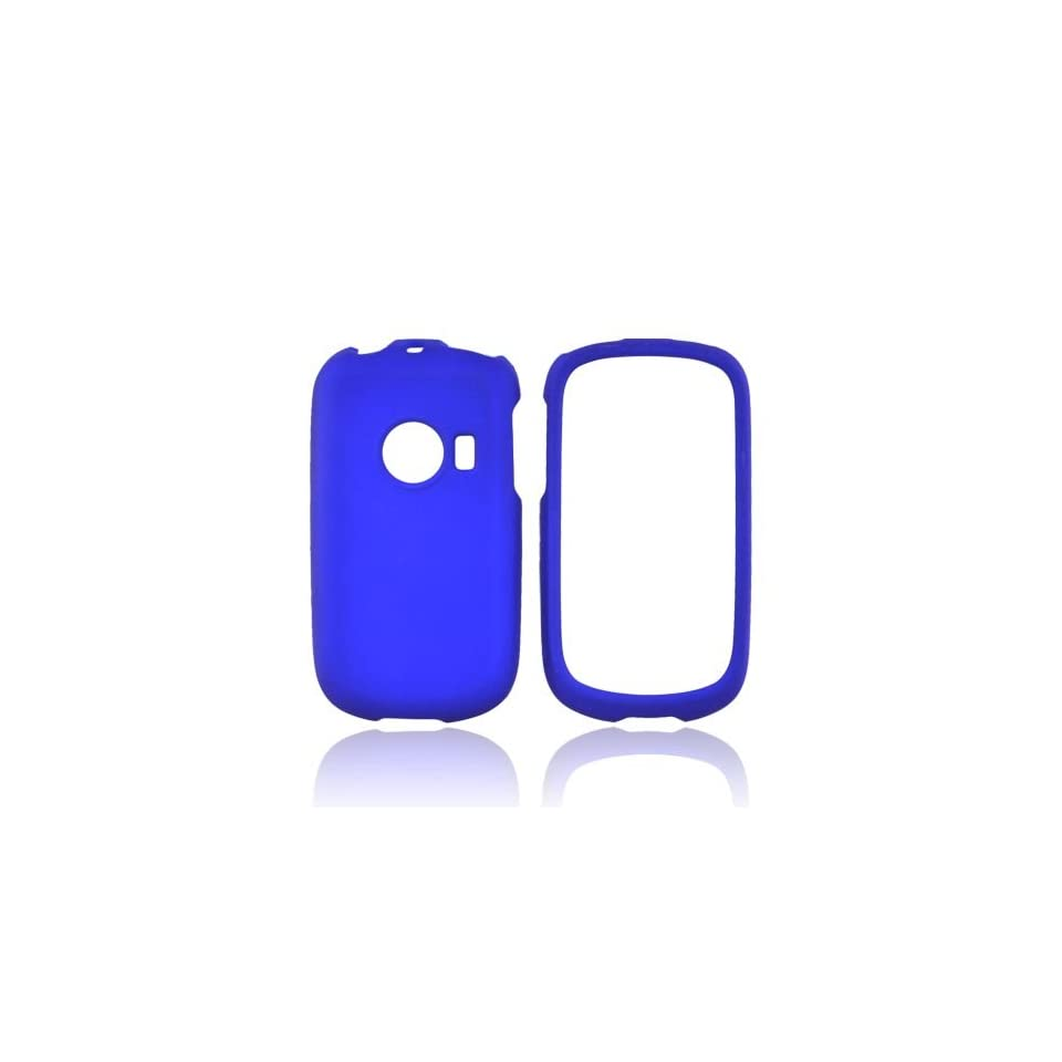 Blue Rubberized Hard Plastic Case Cover For Huawei M835