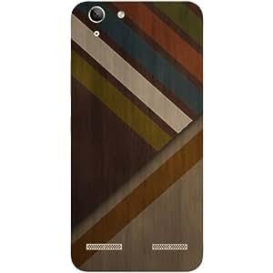 Casotec Wood Colorfull Pattern Design Hard Back Case Cover for Lenovo Vibe K5 Plus