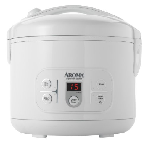 Aroma ARC-996 12-Cup (Cooked) Digital Rice Cooker and Food Steamer, White