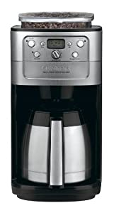 Cuisinart DGB-900BC Grind & Brew Thermal 12-Cup Automatic Coffeemaker, Brushed Stainless/Black