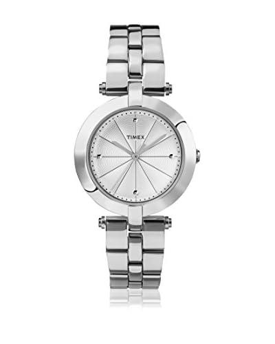 Timex Orologio al Quarzo Woman Lds Greenwich Silvertone Bracelet White Dial Argentato 32 mm