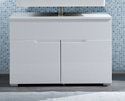Waschbeckenunterschrank Weiss HG