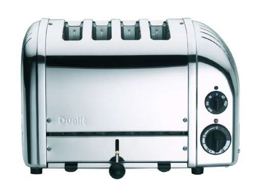 Dualit 47180 4 Slice NewGen Toaster Polished Stainless Steel