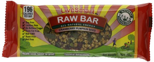 Live Smart Raw Bar, Cranberry Pumpkin Seeds, 1.76 Ounce (Pack Of 12)