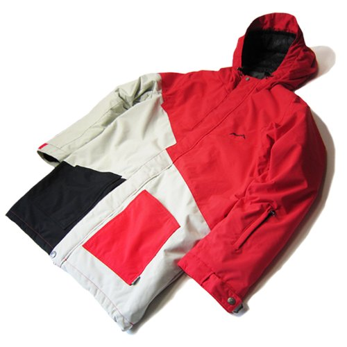 ∴rideout(ライドアウト) 12-13モデル ユニセックス スノーボードウェア dragon jacket RSW2704 RED×L.GRY L