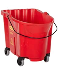 Rubbermaid Commercial FG757088 WaveBrake Bucket, 35 qt Capacity, 20.1 Length x 16 Width x 17.4 Height, Red by Rubbermaid+Commercial