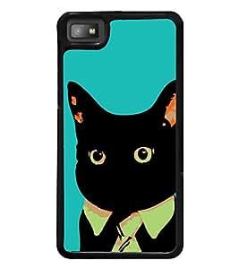 Funny Cat 2D Hard Polycarbonate Designer Back Case Cover for BlackBerry Z10
