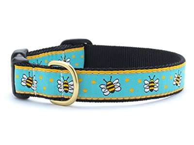 Bee Dog Collar with Quick Release Buckle - Extra Large