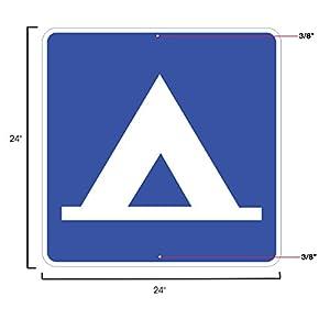 D9-3, Camping Sign, 24