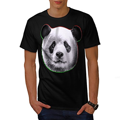 cracked-wood-panda-timber-style-men-new-black-xl-t-shirt-wellcoda