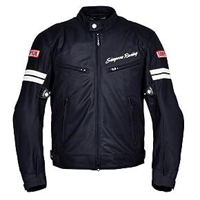 SIMPSON ジャケット メッシュジャケット ブラック/ホワイト MSJ-6118
