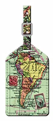 Wild and Wolf Map Luggage Tag by Wild and Wolf
