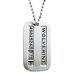 Via Mazzini Famous Hugh Jackman X-Men Wolverine Logan Inspired Necklace For Men