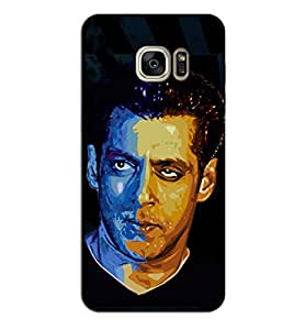 Happoz Samsung Galaxy S7 Edge Cases Back Cover Mobile Pouches Shell Hard Plastic Graphic Armour Premium Printed Designer Cartoon Girl 3D Funky Fancy Slim Graffiti Imported Cute Colurful Stylish Boys D424