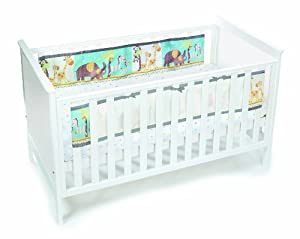 BreathableBaby 2 Sided Cot Mesh Liner (Animals)