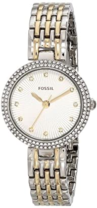 Fossil Women's ES3505 Olive Analog Display Analog Quartz Silver Watch