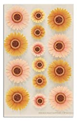 Martha Stewart Crafts Stickers Gerber Daisy Gold/Peach By The Package