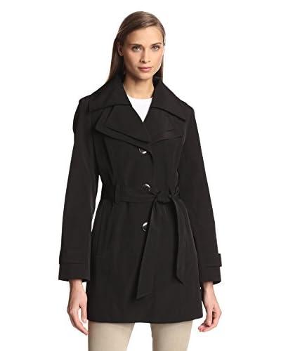 London Fog Women's Single-Breasted Double Collar Coat
