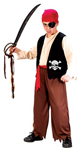 Boys Playful Pirate Kids Child Fancy Dress Party Halloween Costume