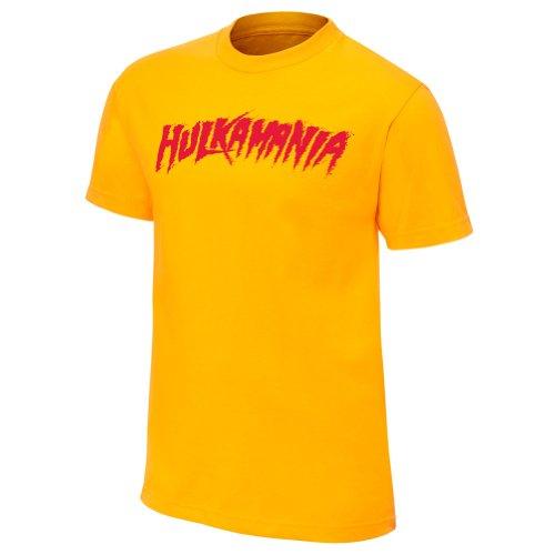 """Hulk Hogan """"hulkamania"""" Yellow Youth Authentic T-shirt Picture"""