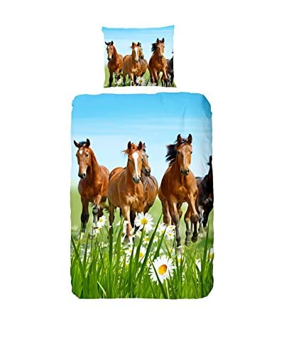 GOOD MORNING Juego De Funda Nórdica  Horses Multicolor