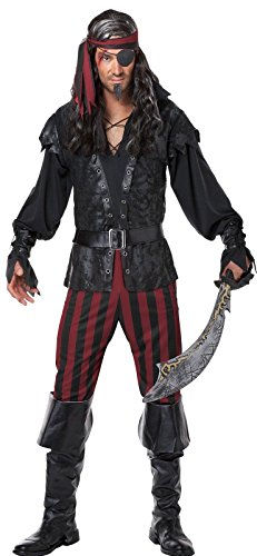 Men's Ruthless Rogue Pirate Buccaneer Swashbuckler