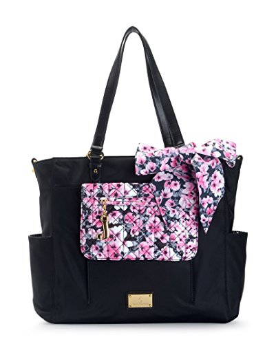 Juicy Couture Malibu Nylon Baby Diaper Tote Bag (Black) - 1