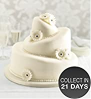 Topsy Turvy Sponge Wedding Cake