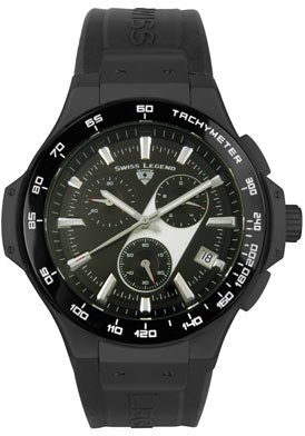 Swiss Legend Men's 40051-BB-01 Maverick Chronograph Black Ion-Plated Watch