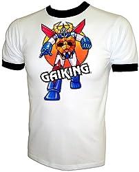 Vintage 1981 Mattel Shogun Warrior Gaiking Japanese Robot Cartoon T-Shirt