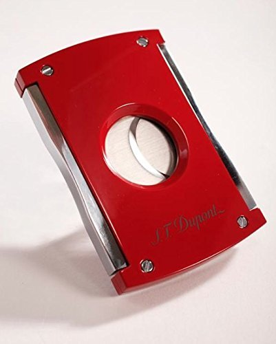 S.T. Dupont Xtend Maxijet Red Lacquer And Chrome Double Blade Cigar Cutter